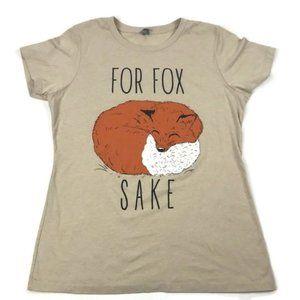 Next Level Apparel Fitted Crewneck Fox Tee Sz XXL
